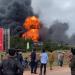 Xe chở hàng phát nổ gây cháy lớn tại khu vực biên giới Việt Nam - Lào
